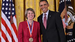 Professor Penny Chisholm receives the National Medal of Science from the President, February 2013