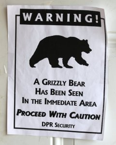 Alaskans are used to seeing signs like these